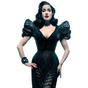 3D printed-dress-by-Michael-Schmidt and FrancisBitonti_Dita von Teese