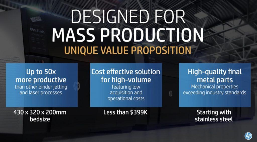 HP Metal Jet value proposition