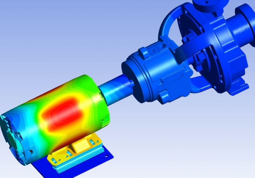 Motor pump overload - simulation using ANSYS