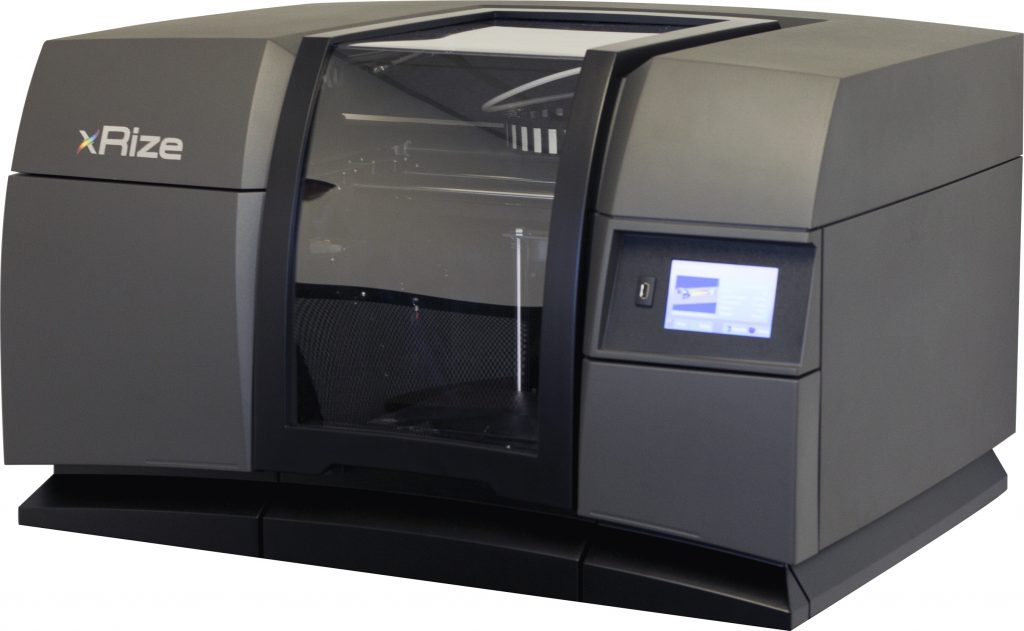 XRIZE is the latest industrial 3D printer from RIZE and can print full-colour parts
