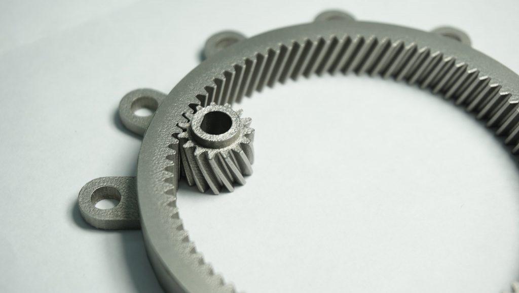 a metal 3D printed gear