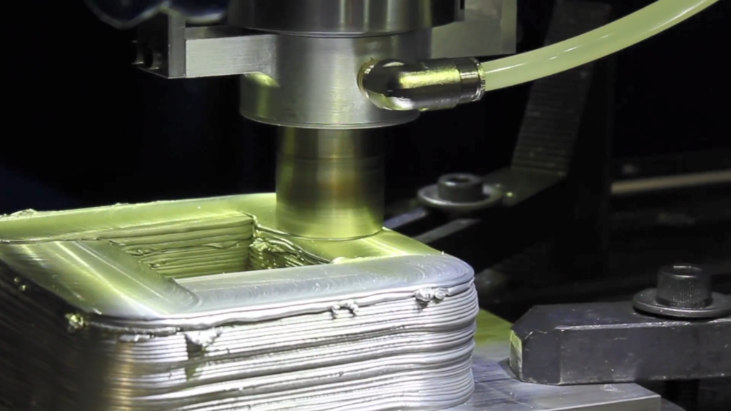 MELD Manufacturing is a solid-state metal 3D printing process