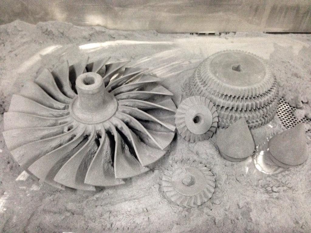 3D printed graphite parts
