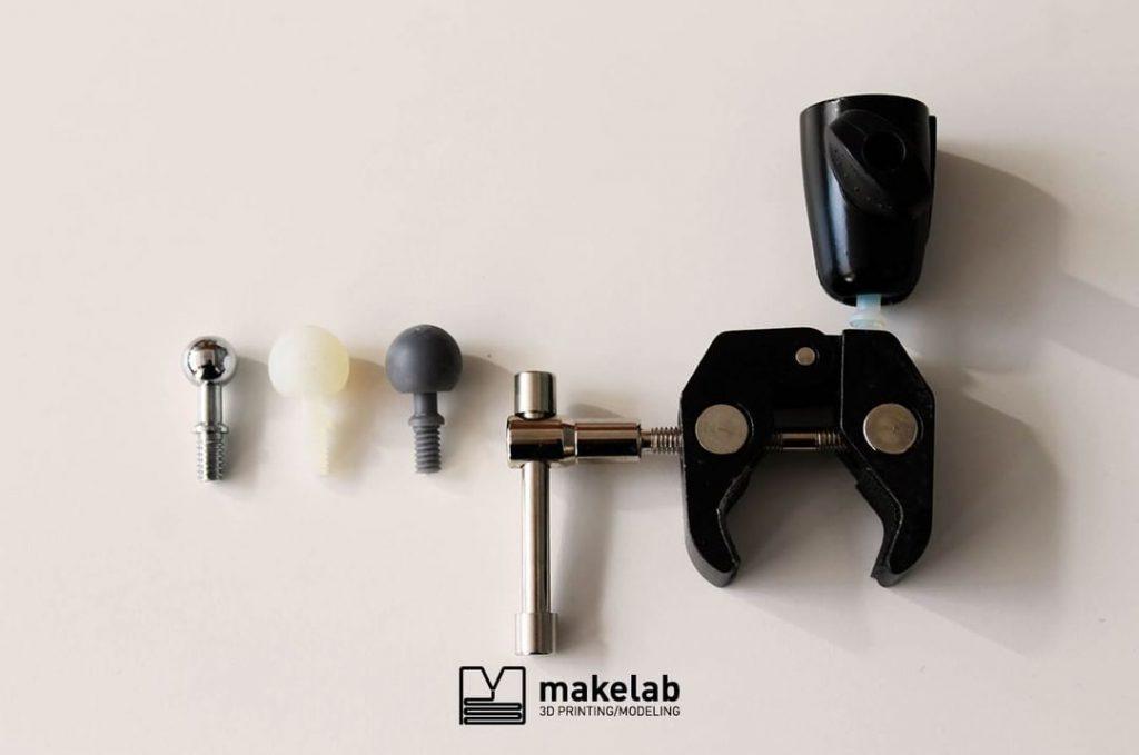 parts 3D printed at Makelab