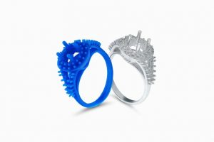 3D printed castable resin jewellery