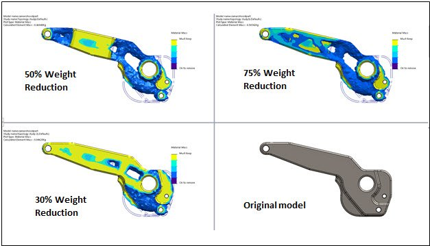 Solidworks topology optimisation software for weight reduction