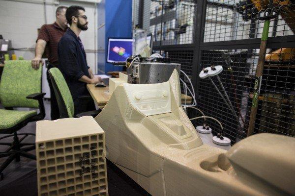 Testing 3D printed parts at Ford