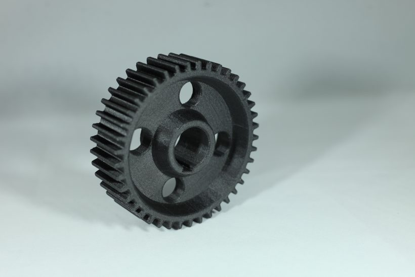 Large gear part 3D printed by RIZE
