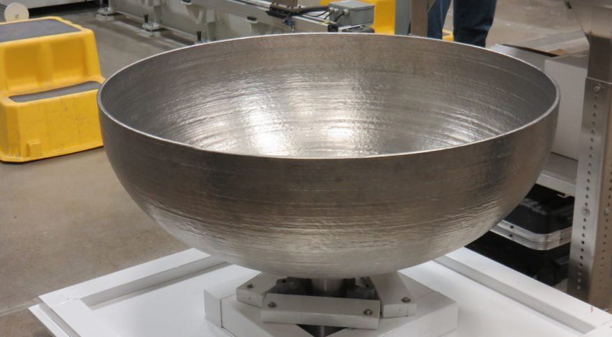 Lockheed Martin 3D prints large titanium domes for spacecraft