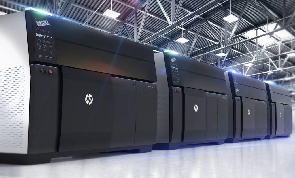 Metal Jet 3D printers by HP