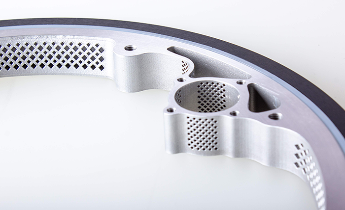a metal 3D printed bearing featurig lattice structure
