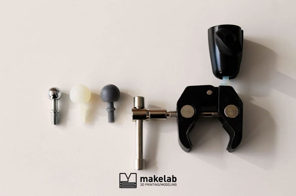 parts 3D printed at Makelab