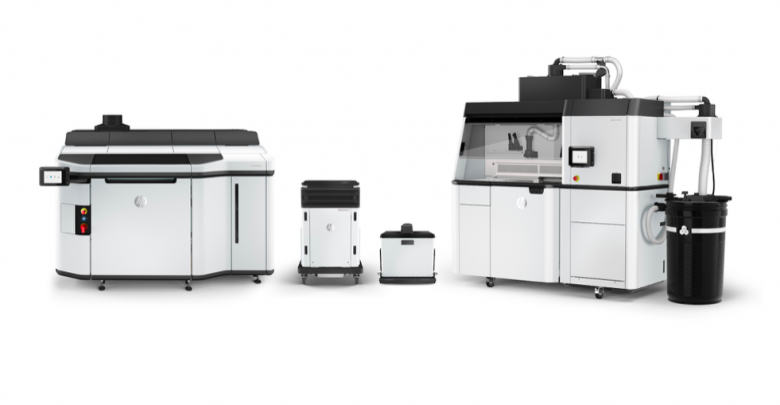 <em> A new HP's Jet Fusion 5200 Series of 3D printers for production applications