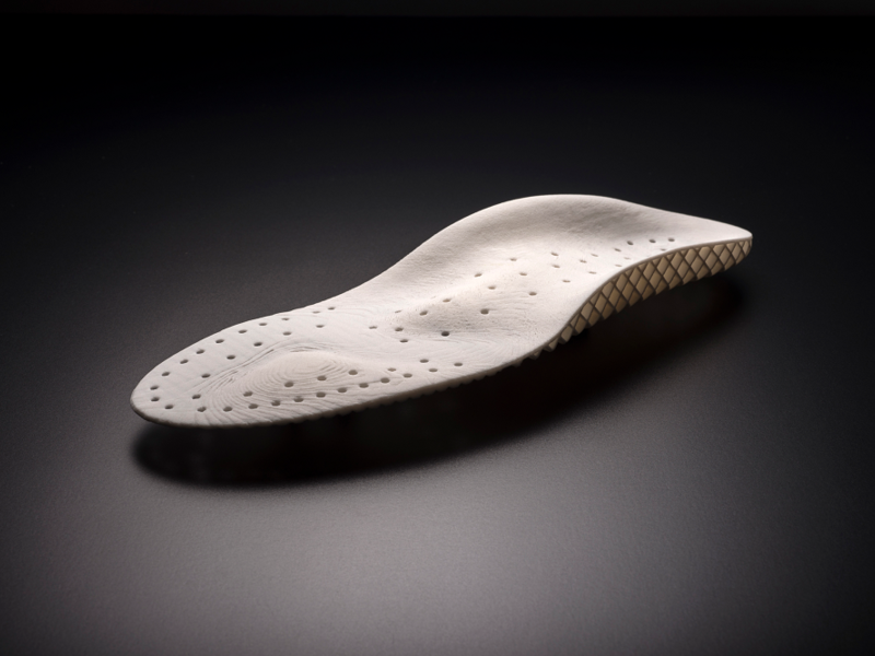 An insole 3D-printed using TPU material [Image credit: Covestro]