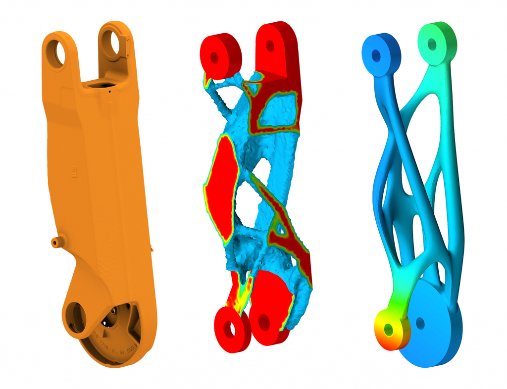MX3D RobotArm Topology Optimization Altair