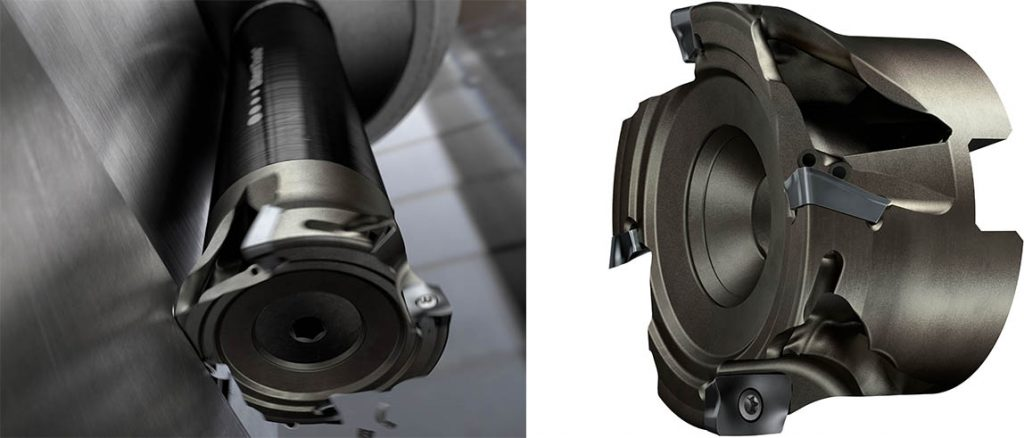 lightweight coromill 390 produced using additive manufacturing reduces vibration in long overhang milling 1 1024x438 1